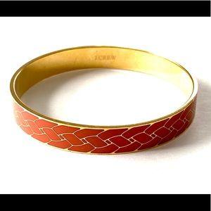 J CREW Orange Gold Bangle Bracelet